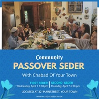Community Passover e-invite card Instagram Plasing template