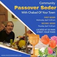 Community Passover Event Invite Instagram Plasing template