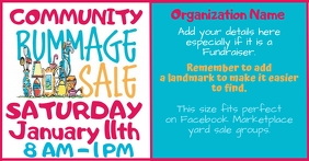COMMUNITY RUMMAGE SALE Facebook Shared Image template