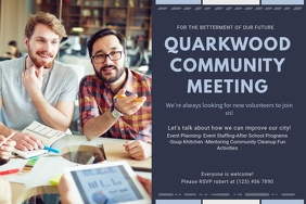 Community Townhall Meeting Invitation Poster Template