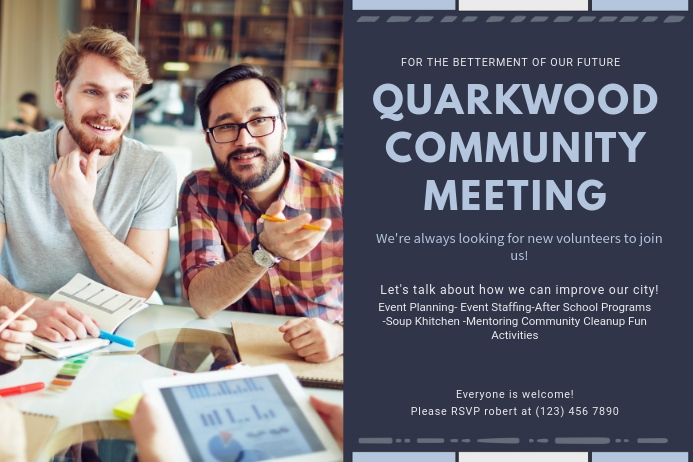 Community Townhall Meeting Invitation Poster Template Postermywall