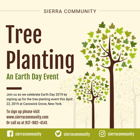 Community Tree Planting Drive Earth Day Ad