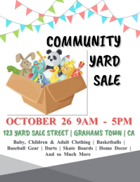 Community Yard Sale Flyer Template Pamflet (Letter AS)
