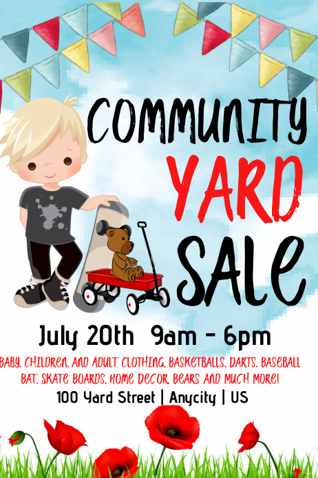 Community yard sale Template | PosterMyWall