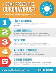 Como prevenir el coronavirus volante