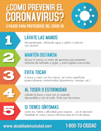Como prevenir el coronavirus volante Flyer (Letter pang-US) template