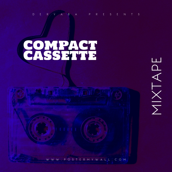 Compact Cassette CD Cover Template