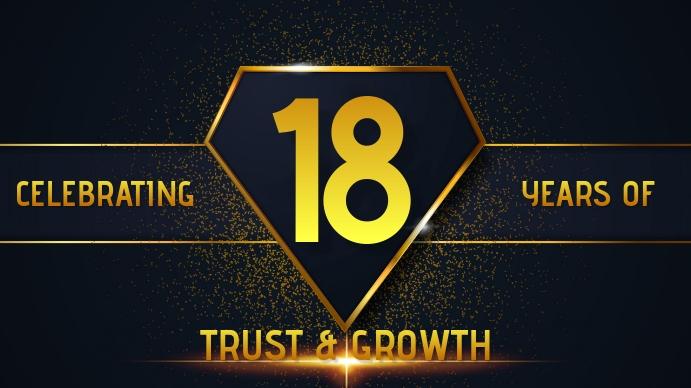 Company Anniversary Badge Banner YouTube Kanaal Omslag Foto template
