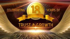 Company Anniversary Badge Banner Cover na Larawan ng YouTube Channel template