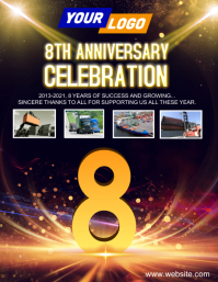 Company anniversary design Flyer (US Letter) template