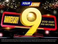 Company anniversary template Volantino (US Letter)