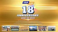 Company anniversary video design Digital Display (16:9) template