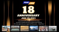Company anniversary video design Digital Display (16:9) template