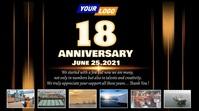 Company anniversary video design Pantalla Digital (16:9) template