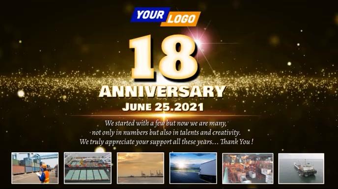Company anniversary video design Digitale Vertoning (16:9) template