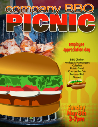 company bbq picnic cookout flyer