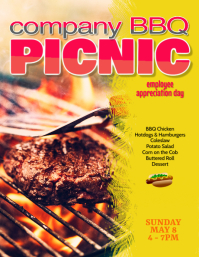 company bbq picnic flyer