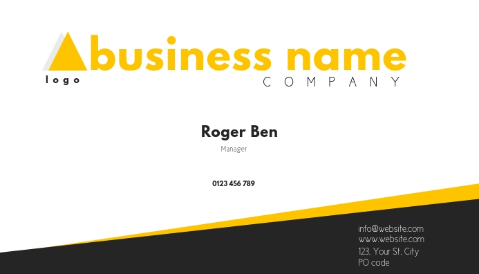 COMPANY business card Visitekaartje template