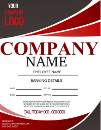 Company Business PAYSLIP FORM Flyer Template