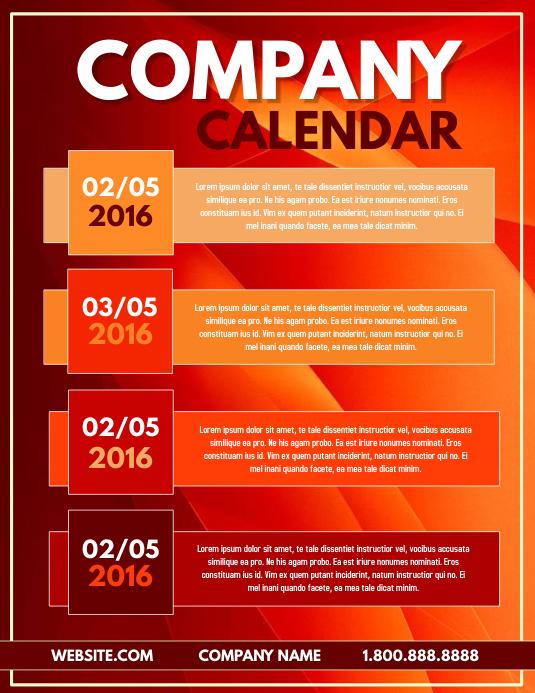 Company Calendar template | PosterMyWall