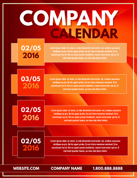 Customizable Design Templates For Calendar | Postermywall