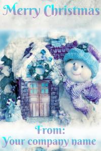 Company Christmas Card Plakkaat template