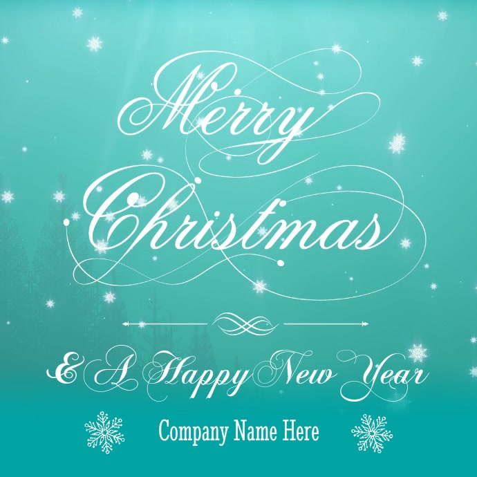 Company Christmas Cards.Company Christmas Card Video