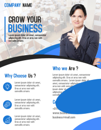 Company corporate business flyer and poster template