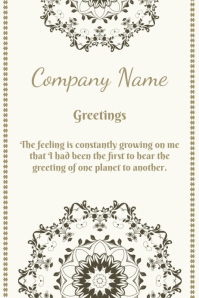 company greetings Poster template