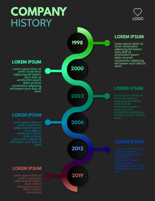 Company History Infographic Template