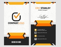Company ID Card Flyer (US Letter) template