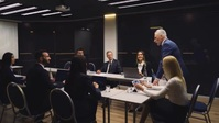 Company meeting in meeting room with ceo YouTube-Miniaturansicht template