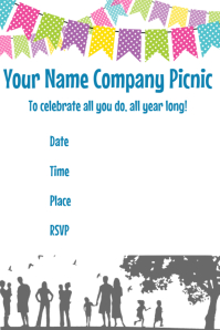Company Party Picnic Invitation Announcement Poster Flyer