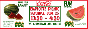 COMPANY PICNIC BANNER 2X6 template
