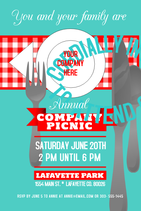 Company Picnic Poster template