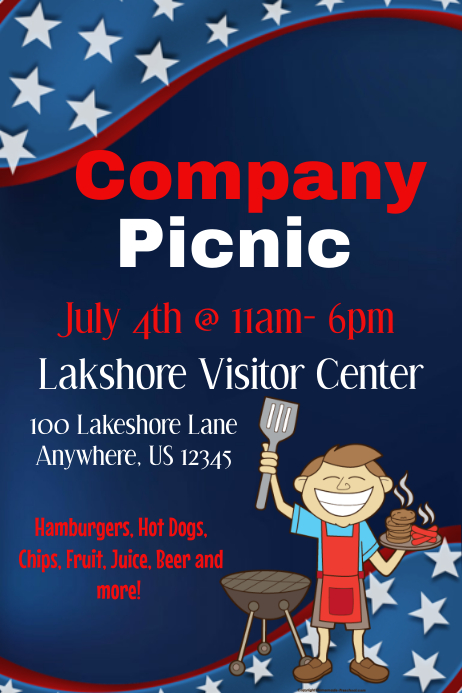 Company Picnic Flyer Template Postermywall