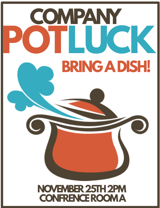 company potluck template postermywall