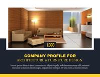 Company Profile Рекламная листовка (US Letter) template