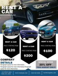Company Rent a Car Flyer template