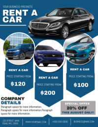 Company Rent a Car Flyer