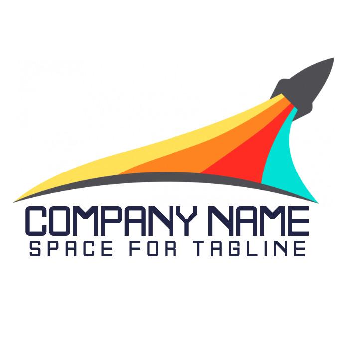 Company Rocket Logo Template