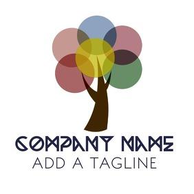 Company Tree Logo Template