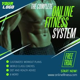 Complete Online Fitness System App Ad Instagram-bericht template