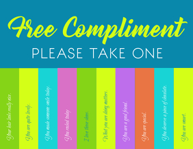 Compliment day Volante (Carta US) template