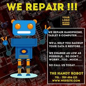 Computer & Hand phone repair template โพสต์บน Instagram