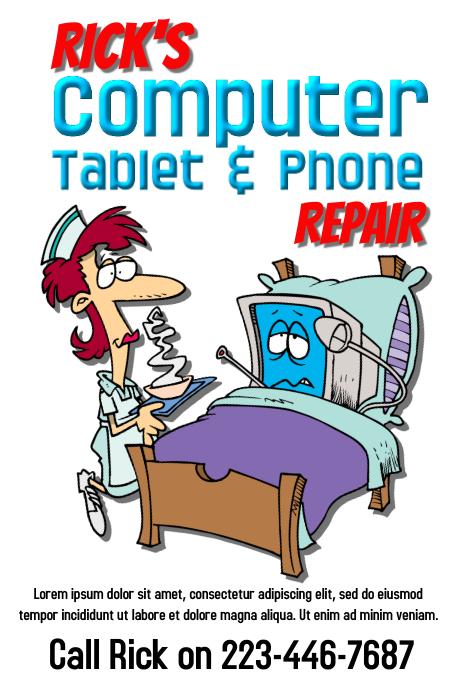 Computer & Phone Repair Service Flyer