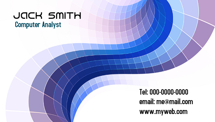 computer analyst business card