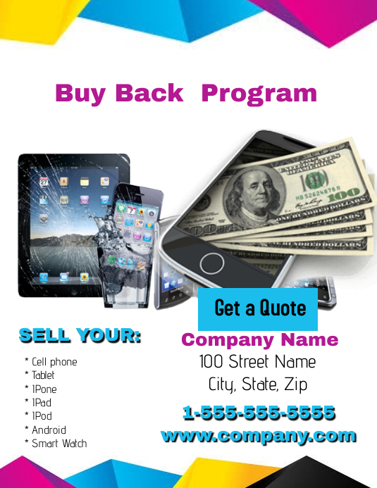 Computer And Phone Buy Back Program Template Postermywall