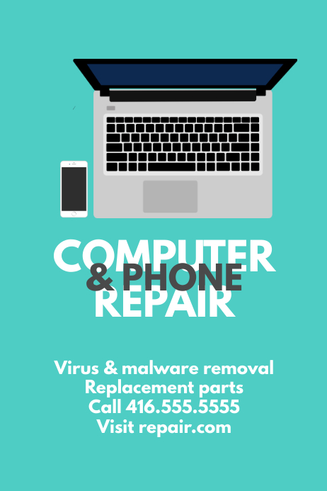 computer and phone repair template