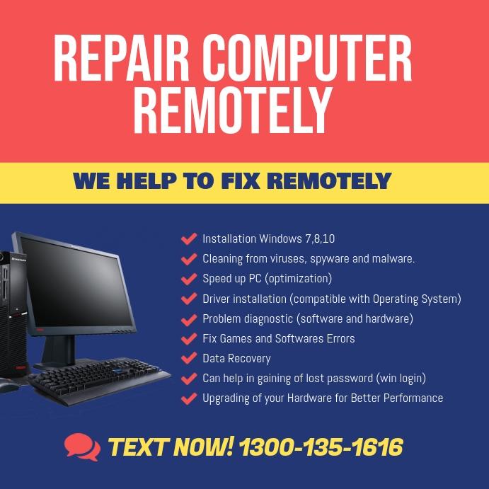 Computer Laptop Repair Specialist Instagram Instagram-bericht template